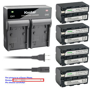 Kastar Battery AC Quick Charger for Sony NP-F750 CVX-V18NSP DCR-TV900 DCR-VX1000