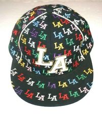 """Leader Los Angeles """"LA"""" Multicolor Fitted Sports Cap Size: Large"""