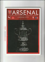 ARSENAL v LINCOLN CITY Football Programme 11 March 2017 - FA Cup Quarter Final