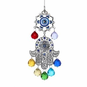 Chakra Energy Crystal Balls Suncatcher 36.5x8.5cm Home Garden Hanging Decoration