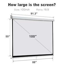 100 inch Projector Screen HDTV Outdoor Portable Home Theater Backyard Cimema