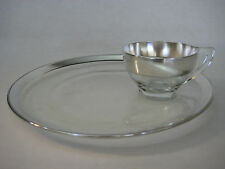 Dorothy C. Thorpe Crystal & Silver Snack Plate & Cup Set Set (Rare)