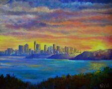 Original Australian Landscape Oil Painting of Sydney from Manly