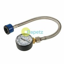 Mains Water Pressure Test Gauge 0-11bar (0-160psi) With Stainless Steel Hose