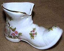 VTG James Kent Old Foley Staffordshire Harmony Rose Boot Shoe Pottery Porcelain