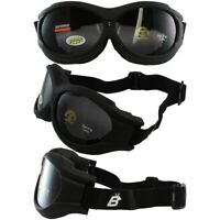 Motorcycle Goggles Fit Over Glasses Anti-Fog Shatterproof Smoke Lenses UV400