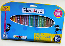 24 Paper Mate Medium Tip Colouring Markers - Free Post and Packing
