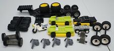 Authentic LEGO Lot Town Race Trailor Cars Tires Axles Motorcycle 39 Pieces