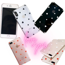 Case For Apple iPhone 11 XR 8 Hearts Clear Slim Soft TPU Protective Phone Cover
