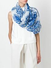 Dolce & Gabbana Scarf 'Majolica' Print Silk Tile Print Sheer Stole BNWT RRP £269