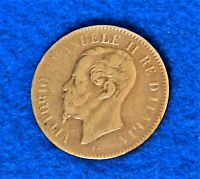 1867 T - Italy 2 Centesimi - Rarer Turin Mint - Neat Old Coin - See PICS