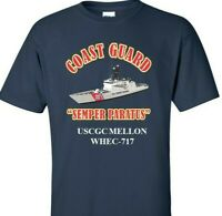 USCGC MELLON  WHEC-717 *COAST GUARD  VINYL PRINT SHIRT/SWEAT