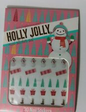 Holly Jolly Christmas 30 Nail Decal Sticker Set