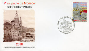 Monaco 2018 FDC Grande Bourse Fairs 1v Set Cover Numismatics Cartography Stamps