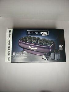 Conair Infiniti Pro Fast Heat 20 Ceramic Flocked Rollers New Open Box