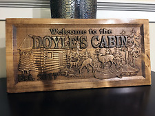 Wood Carved Personalized Cabin Sign. Lake Cabin Sign, Mountain Cabin Sign