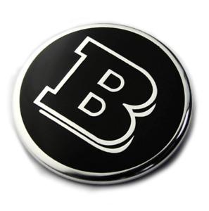 57mm Mercedes Benz Black Brabus Hood Bonnet Emblem Badge Sticker Universal