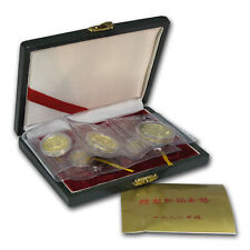 1990 China 5-Coin Gold Panda Proof Set (w/Box & COA) - SKU #14599