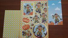 Hunkdory Kit - Patchwork Pumpkin - Die Cut Topper Sheet & 2 Backing Cards