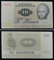 Denmark Banknote 10 Kroner 1972 UNC
