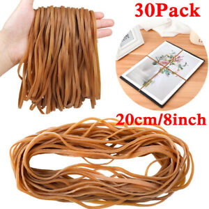 """30Pcs Large Rubber Bands Heavy Duty Elastic Bands for Office School Trash Can 8"""""""