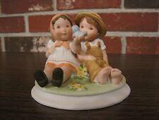 VINTAGE SIMPLE PLEASURES GRETCHEN COLLECTION GIRL AND BOY PORCELAIN FIGURINE