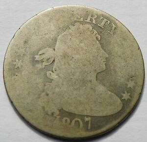 1807 Draped Bust Quarter Dollar 25C, Scarce
