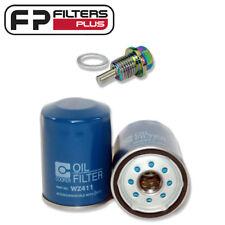 WZ411 Oil Filter + Neodymium Magnetic Sump Plug - Triton 2.4L Petrol  MQ, ML, MN