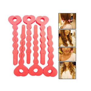 New Enduring 6X Magic Sponge Hair Soft Curler Roller Strip Heatless Roll TooI CL