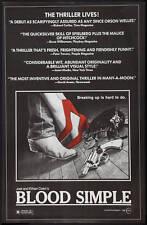 BLOOD SIMPLE ROLLED ORIG MOVIE POSTER 1984 COEN BROS