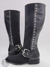 $395 NWB Donald J. Pliner Gale Knee-High Boots Black Crepe Elastic Women's 6