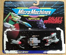 GALAXY VOYAGERS Micro Machines Collection #1 Skytron Eluder + 2 Space Vehicles