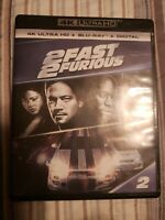 2 Fast 2 Furious 4k Case Please read Bluray + dvd Disc free Shipping