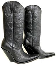 Men size 11 Bull neck leather cowboy boots sharp toe 16¨tall an 5¨heels in stock