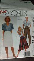 McCall's Pattern 9455 east vintage pant skirt culottes size 10  Uncut