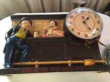 IRON CITY BEER CHALKWARE    WITH WORKING CLOCK
