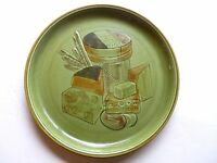 Vintage Yellow Cheese Platter 505 Los Angeles Pottery USA 14 inch