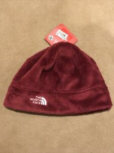 The North Face Polartec Fleece Beanie Unisex men women Loganberry red One Size