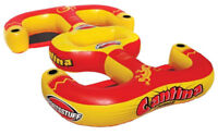 Sportsstuff 54-2025 Cantina Lounger 4-Person Inflatable Pool Beach Lake Raft