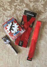 20s Gangster Costume Accessory Set -4 Pc Set Suspenders Cigar Tie Tommy Gun