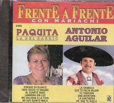 Paquita La Del Barrio y Antonio Aguilar Frente a Frente CD New
