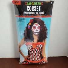 Day Of The Dead Corset One-size-fits-most Adult new cosplay sexy skulls