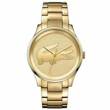 LACOSTE VICTORIA GOLD-TONE DIAL GOLD-TONE ST. STEEL WOMEN'S WATCH 2001016 NEW