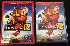 Disney THE LION KING 1 1/2 Blu-Ray & DVD 1.5 Special Edition +SlipCover New Rare