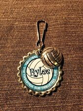 Personalized VOLLEYBALL Bottle Cap Name Zipper Pull Pendant Tag - Team gift