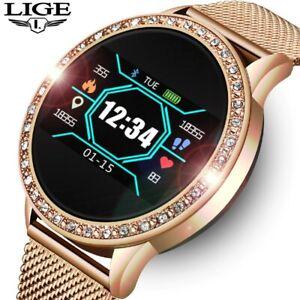 New 2021 LIGE Ladies Smart Watch Women Fashion Sports Heart Rate Fitness Tracker