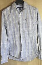 Tommy Hilfiger Men's Shirt Sz S Comfort Fit Window Pane Long Sleeves 100% Cotton