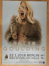 ELLIE GOULDING 2016 BERLIN  -  orig.Concert Poster -- Konzert Plakat  A1 NEU
