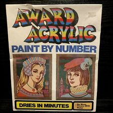 Vintage 1976 Paint By Number Romeo & Juliet Sealed Pkg Award Acrylic Kit AC-1006