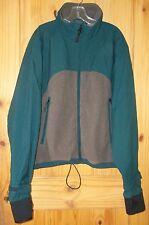 Cabela's Dry-Plus Green Nylon & Dark Gray Fleece Jacket, Mens XL Reg.